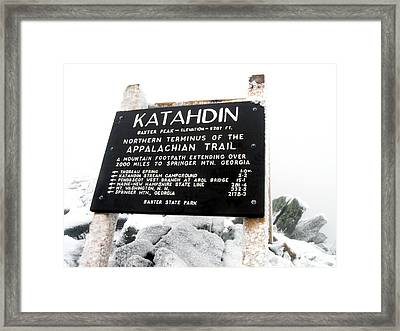 Framed Print featuring the photograph Katahdin - Baxter Peak by Doug McPherson