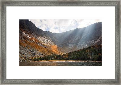 Katahdin And Chimney Pond Framed Print by Patrick Downey