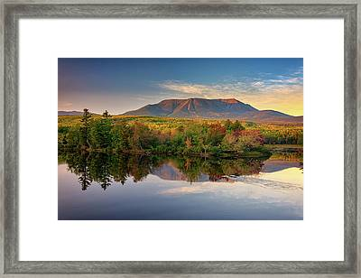 Katahdin At Sunset Framed Print