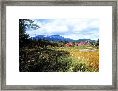 Katahdin From Abol Framed Print