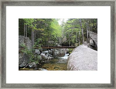 Katahdin Stream Framed Print by Lewis Journeyman