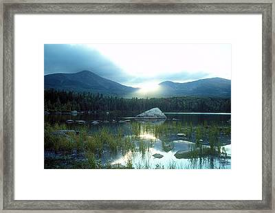 Katahdin Sun Framed Print by Tim  Canwell