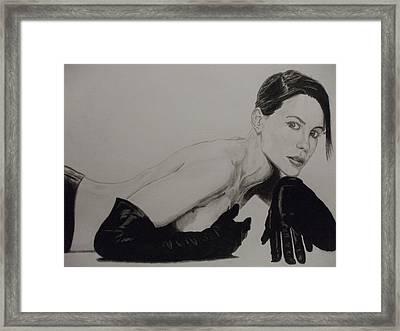 Kate Beckinsale Framed Print by John Prestipino
