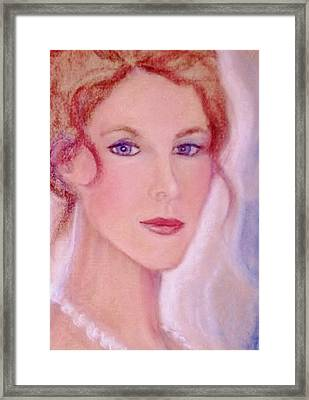 Framed Print featuring the drawing Kate by Denise Fulmer