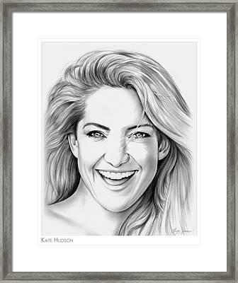 Kate Hudson Framed Print by Greg Joens