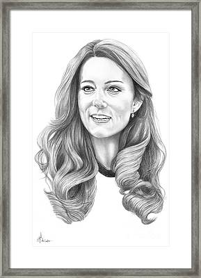 Kate Middleton Catherine Duchess Of Cambridge Framed Print
