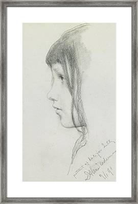 Kate Millet, January 1891 Framed Print