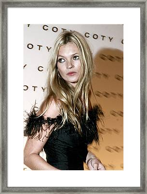 Kate Moss  At The Coty 100th Framed Print
