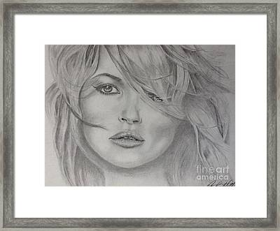 Kate Moss Fashion Model Framed Print