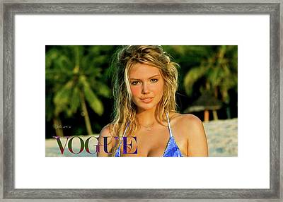 Kate Upton, Vogue Framed Print