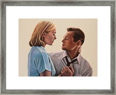 Kate Winslet And Leonardo Dicaprio Framed Print
