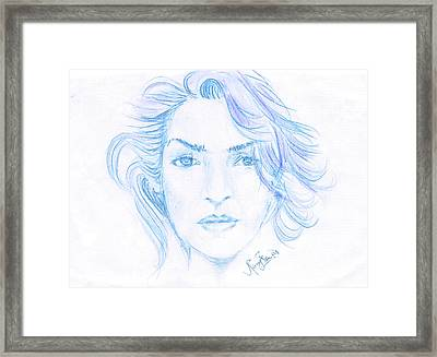 Kate Winslet Framed Print by Remy Francis