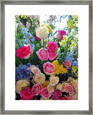 Kate's Flowers Framed Print