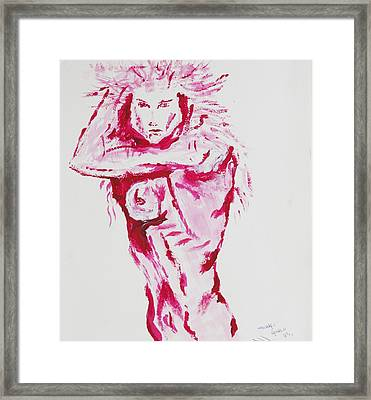 Kates Kindness Framed Print by Contemporary Michael Angelo