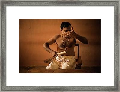 Kathakali Conductor Framed Print