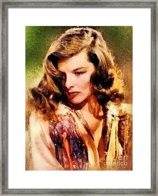 Katharine Hepburn, Hollywood Legend By John Springfield Framed Print by John Springfield