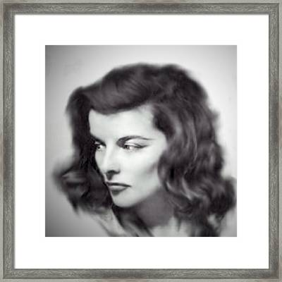 Katherine Hepburn Framed Print by Barry W King