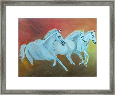 Kathiawadi Horses Framed Print
