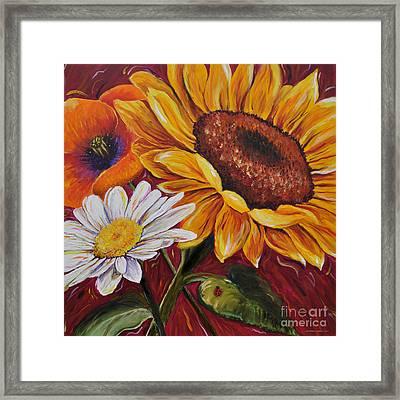 Kathrin's Flowers Framed Print