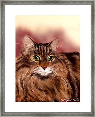 Katie- Custom Cat Portrait Framed Print