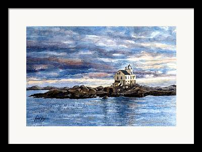 Katland Lighthouse Framed Prints