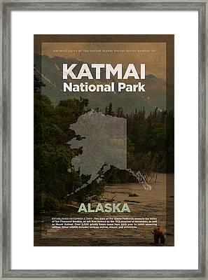 Katmai National Park In Alaska Travel Poster Series Of National Parks Number 34 Framed Print