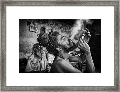 Katmandu Smoking 3 Framed Print