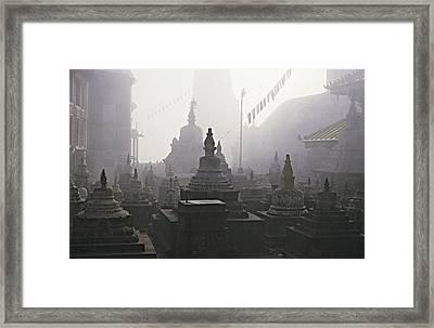Katmandu Temple,nepal Framed Print by David Edwards