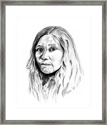 Kato Woman Framed Print