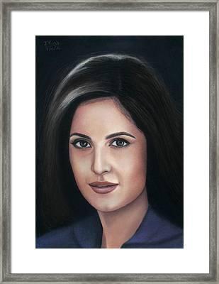 Katrina Kaif - Pastel Framed Print
