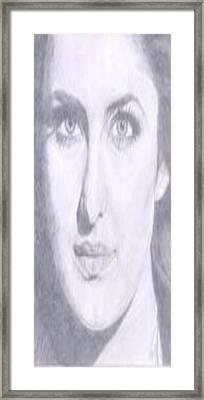 Katrina Kaif Framed Print by Smriti Jaiswal