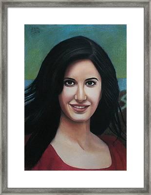 Katrina - The Beauty Of India Framed Print