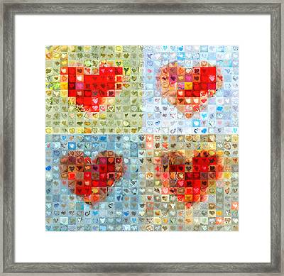 Katrina's Heart Wall - Custom Design Created For Extreme Makeover Home Edition On Abc Framed Print by Boy Sees Hearts