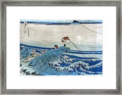 Katsushika: Fishing, C1834 Framed Print by Granger