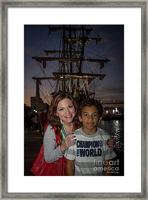 Framed Print featuring the photograph Katy And Baby James Art by Reid Callaway