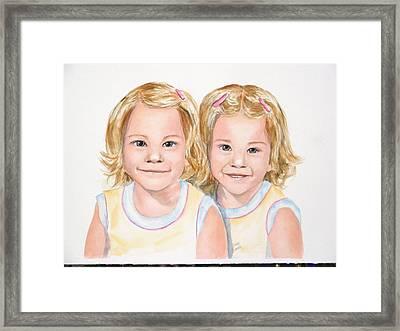 Katy And Kym Framed Print