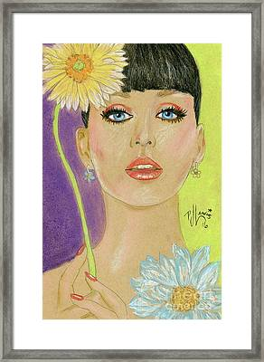 Katy Perry Framed Print by P J Lewis