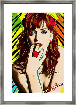 Katy Perry Framed Print by VJay Seminiano