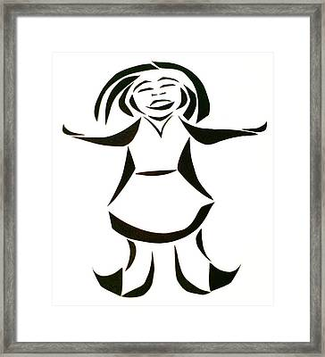 Katy Says Yes Framed Print