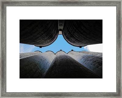 Katy Texas Rice Silos Framed Print