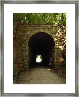 Katy Trail State Park Tunnel Framed Print by Elizabeth Sullivan