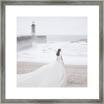 Katya And The Lighthouse Framed Print by Anka Zhuravleva