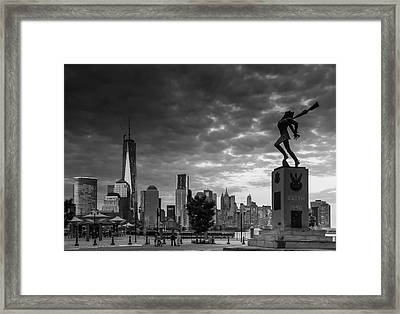 Framed Print featuring the photograph Katyn New World Trade Center In New York by Ranjay Mitra