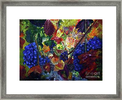 Katy's Grapes Framed Print