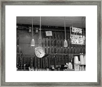 Katz Deli Framed Print by Debbi Granruth