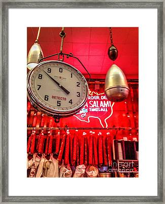 Katz's Deli Framed Print by Debbi Granruth