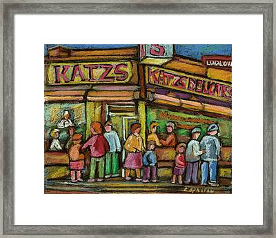 Katzs Delicatessan New York Framed Print