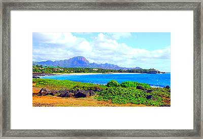 Kauai Beach Framed Print