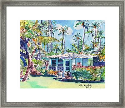 Kauai Blue Cottage 2 Framed Print