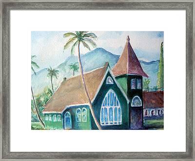 Kauai Church Framed Print by Mike Segura
